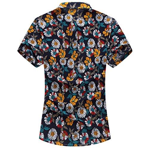 b35cbebf848d YOUTHUP Herren Sommerhemd Hawaiihemd Kurzarm Hemd Blatthemd Freizeit Hemd  Besonders für Reise Urlaub Design 8 ...