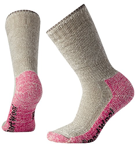 Smartwool Damen Mountaineering Extra Heavy Crew Socks, Beige (Taupe - Bright Pink), M -