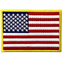 Bandera estadounidense Estados Unidos de America Emblema Uniforme militar Parche Bordado de Aplicación con Plancha