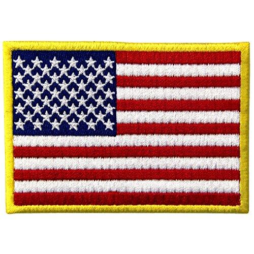 EmbTao Amerikanische Flagge USA Vereinigte Staaten von Amerika Staatswappen Bestickter Aufnäher Zum Aufbügeln/Annähen (Flagge Patch Usa)