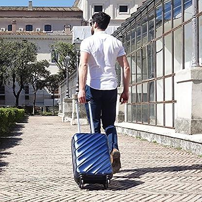 61H%2BEfUdgzL. SS416  - Maleta de equipaje de mano de cabina con 4 ruedas para Cabina Max Toscana Super Ligera 2.4kg ABS funda dura, aprobado para Ryanair, Easyjet, British Airways y muchos más
