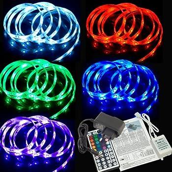 Ruban lumineux de 2m à LED 5050 SMD RVB IP65 + télécommande 44 touches + alimentation LD155