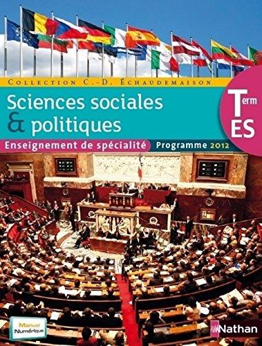 SES Term ES spcialit Sciences sociales et politiques