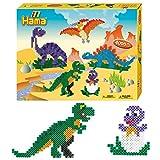 Hama 3144 - Dinosaurier Geschenkpackung, Circa 4000 Bügelperlen und 2 Stiftplatten