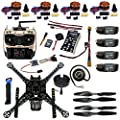 FEICHAO DIY FPV Drone Kit S600 4-Axie Frame 40A ESC with 700KV Motor Flight Control GPS AT9S Transmitter