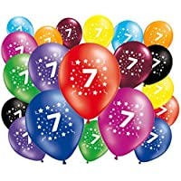 Fabsud Pack of 20 Birthday Balloons, Age 7