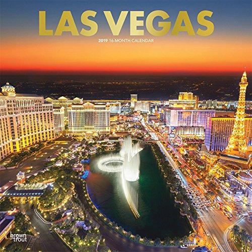 Las Vegas 2019 - 18-Monatskalender mit freier TravelDays-App (Wall-Kalender)