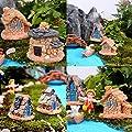 Ailiebhaus 4xFairy Garden fee Garten Miniature Steinhaus Garten Dekoration von Ailiebhaus bei Du und dein Garten