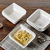 vancasso Gitana Set 6 Pezzi Servizio da Ciotole Porcellana Set Ciotole per Cereali Ceramica Combinazione, Zuppa Ciotole per Gelato Noodle, Ciotole da Snack Dolce, Fruttiere e Insalatiere Bianca Crema