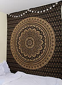 Original Gold And Black Ombre Tapestry By Rawyalcrafts