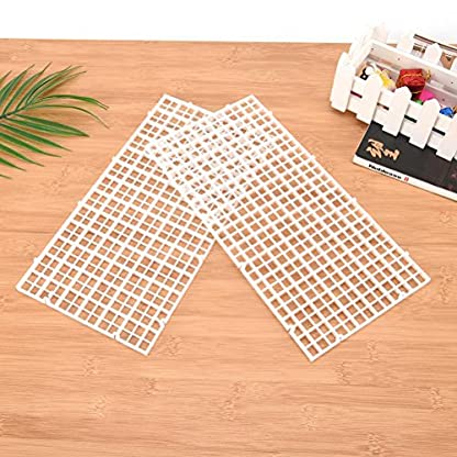 Wetrys 6 Pcs Grid Divider Tray Isolate Board Fish Tank Bottom White Filter Tray Aquarium Crate 3