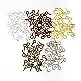 SiAura Material ® - 1000x Ösenschrauben Holzgewinde, Mix, 4 x 8 mm