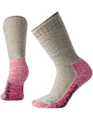SmartWool Mujer Mountaineering Extra Heavy Crew Calcetines, otoño/Invierno, Mujer, Color Taupe/Bright Pink, tamaño Small