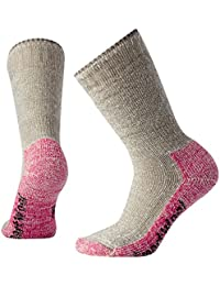 SmartWool Mujer Mountaineering Extra Heavy Crew Calcetines, otoño/Invierno, Mujer, Color Taupe/Bright Pink, tamaño Medium