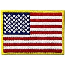 Bandera estadounidense Estados Unidos de America Emblema Uniforme militar Parche Bordado de Aplicaci¨®n con Plancha