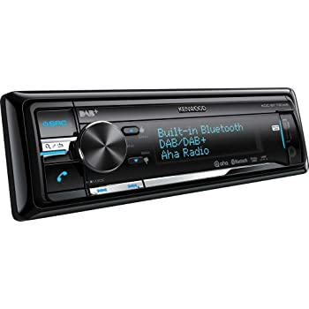 Kenwood CD/Dual USB AUX Receiver with Built-In Bluetooth, Digital Radio, Direct Control for iPod/iPhone and Variable Colour Illumination