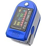 Ossimetro da Dito,Pulsossimetro da Dito Professionale, Sensore Digitale di Ossigeno Nel Sangue e Pulsazioni, con Allarme SPO2
