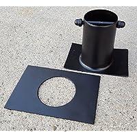 \'Conector de aluminio Negro para Cadena lluvia a Canalón H 3recto