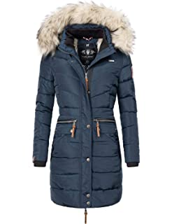 Navahoo Damen Steppmantel Wintermantel Umay XS-XXL