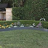 Siena Garden Rasenkante, Stahl, 600 x 0,5 x 15 cm, grau