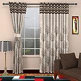 Homefab India Jute Modern Eyelet Window Curtain - 5ft, Brown