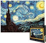 VanStar World Famous Painting Van Gogh Starry Night 1000Pcs Large Jigsaw for Adults Kids - Unique Cut Interloc