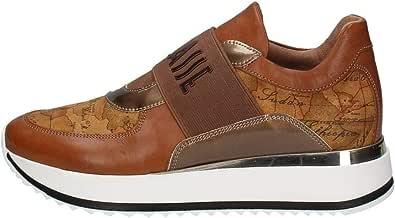 Scarpe Sneakers Donna ALVIERO Martini N07410030 Pelle X014 Originale AI 2021