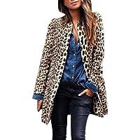 Homebaby Invernale Giacca Donna Elegante Stampa Leopardo Caldo Pelliccia Sintetica Manica Lunga Cappotto con Cappuccio…