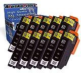 10x Druckerpatrone Kompatibel für Epson T2621 XL 2621 XL 2621XL T2621XL Schwarz Black BK Tintenpatrone für Epson Expression XP-625 XP-700 XP-710 XP-520 XP-600 XP-605 XP-820 XP-700 XP-800 XP-810 XP-610 XP-600 XP-520 XP-800 XP-620 Epson XP-620 XP-510 XP-510 XP-520 XP-600 XP-620 XP-625 XP-700 XP-800 XP-810 XP-610 Patronen