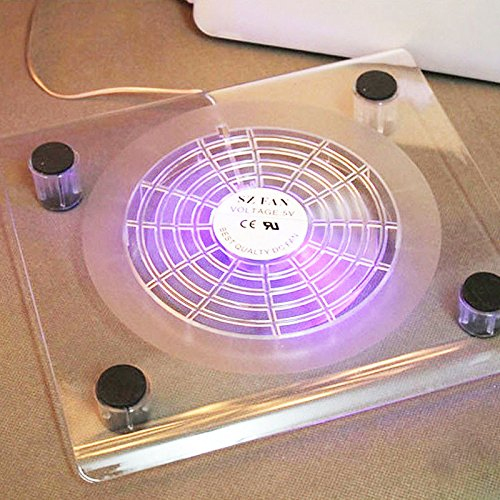 Zooarts Externe Kühlpads mit LED-Licht für Laptops mit 14,1-15,4 Zoll (35,6-39,62 cm)