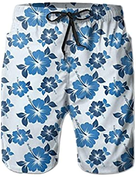 Funny Caps Aloha Pattern Men's/Boys Casual Shorts Swim Trunks Swimwear Elastic Waist Beach Pants with Pockets
