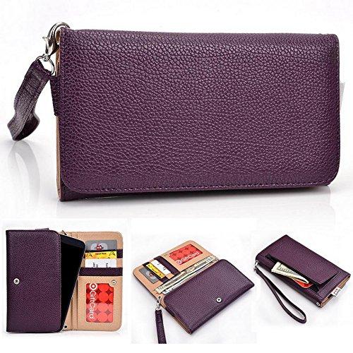 Kroo Clutch Wristlet Wallet passt 16cm Smartphones und Phablets für Motorola Moto X Style violett violett (Samsung Tablet Zip Etui)