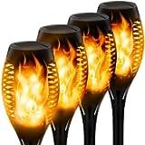 StillCool Outdoor Solar Flickering Dancing Flame Lights,Waterproof Security Lights Landscape Lighting for Garden Patio…
