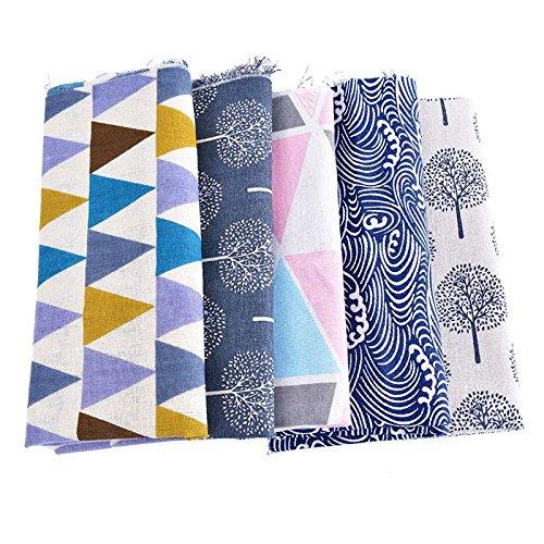 5 unités toiles de coton motifs mix pour coussins, tapisser chaises descalzadoras pour travaux manuels, Couture Et Guirlandes caravanes vitrine Rideau 1 m x 50 cm chacun de Open Buy