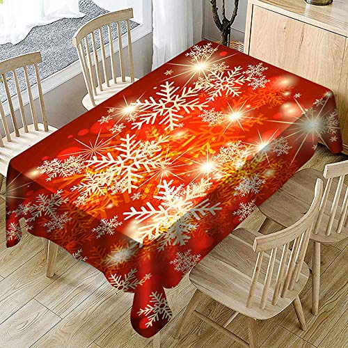 About1988 Weihnachten Tischdecke, Quadratische Tischdecke,Weihnachtstischdecke Verschiedene Größen und Muster,Geeignet für Partys, Küchen, Garten,Restaurants und Barbedarf