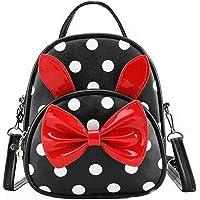 Bizarre Vogue Polka Dots Mini Backpack for Girls (Black,BV1244)