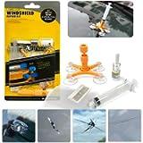 Manelord Kit Riparazione Parabrezza Auto Kit Riparazione Crepe Vetro con Siringhe a Pressione per la Riparazione di…