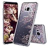 MOSNOVO Galaxy S8 Hülle, Blossom Blühen Blumen Flower Muster TPU Bumper mit Hart Plastik Hülle Durchsichtig Schutzhülle Transparent für Samsung Galaxy S8, Galaxy S8 Case (Cherry Blossoms)