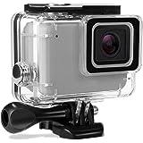 Kupton Custodia Protettiva Impermeabile per GoPro Hero 7 Argento/White Case Subacquea 60m con Attaco Mobile Rapido e Vite per