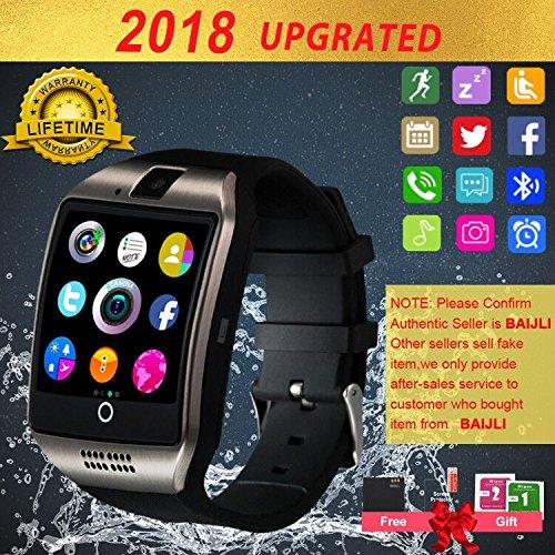 Smartwatch con Whatsapp,Bluetooth Smart Watch Pantalla Táctil,Reloj Inteligente Hombre,Impermeable Smartwatches Compatible Android iOS iPhone X 8 7 6 5 Plus Samsung Huawei para Hombre Mujer Niño Niña