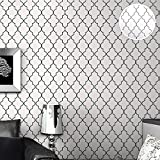 HLMYYO 3d wallpaper moderne minimalistische Tartan Tapete Vliestapete geometrisches Muster Raute schwarz und weiß Wohnzimmer Schlafzimmer Hintergrund Kaufen Sie drei Get One Free (Color : A02601)