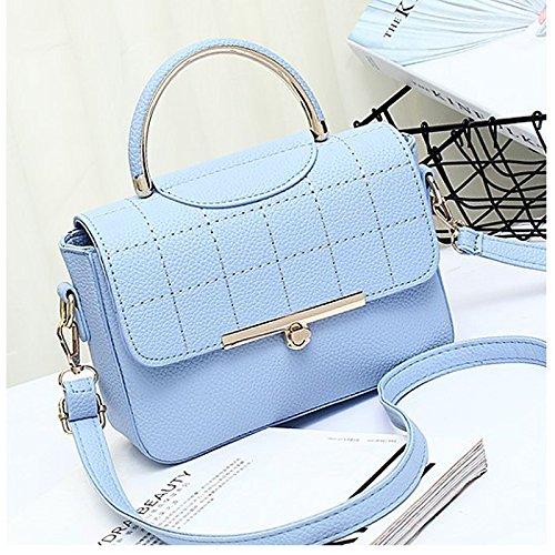 Haihuayan Handtasche Frauen Handtaschen Umhängetaschen Weibliche Handtasche Top Griff Damen Umhängetasche Schultertasche Für Teenager Mädchen, Hellblau (Große Single-light-anhänger)
