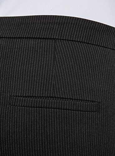 oodji Collection Donna Pantaloni Basic Stretti Nero (2910S)