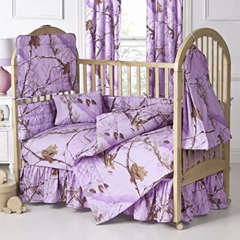 Kimlor Mills Realtree APC Crib Bedskirt, Lavender by