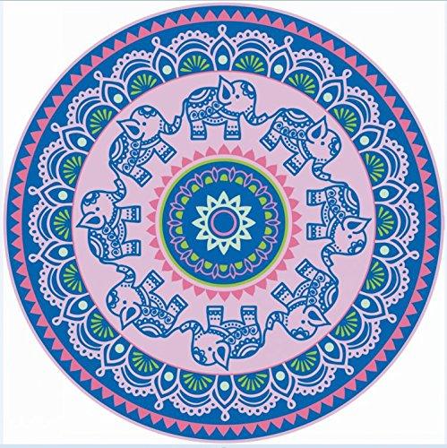 BBQBQ Strandtuch Runde Strand gewickelt Yoga-Matte Druck Sonnencreme Schal Tapisserie lila 148 * 148cm