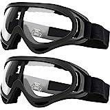 Pack de 2 gafas de seguridad para niños con protección anti niebla y protección ultravioleta perfecta para pistola de espuma