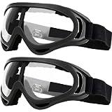 Occhiali di sicurezza da 2 paia per bambini con protezione anti-nebbia e UV, perfetti per pistole anti-schiuma