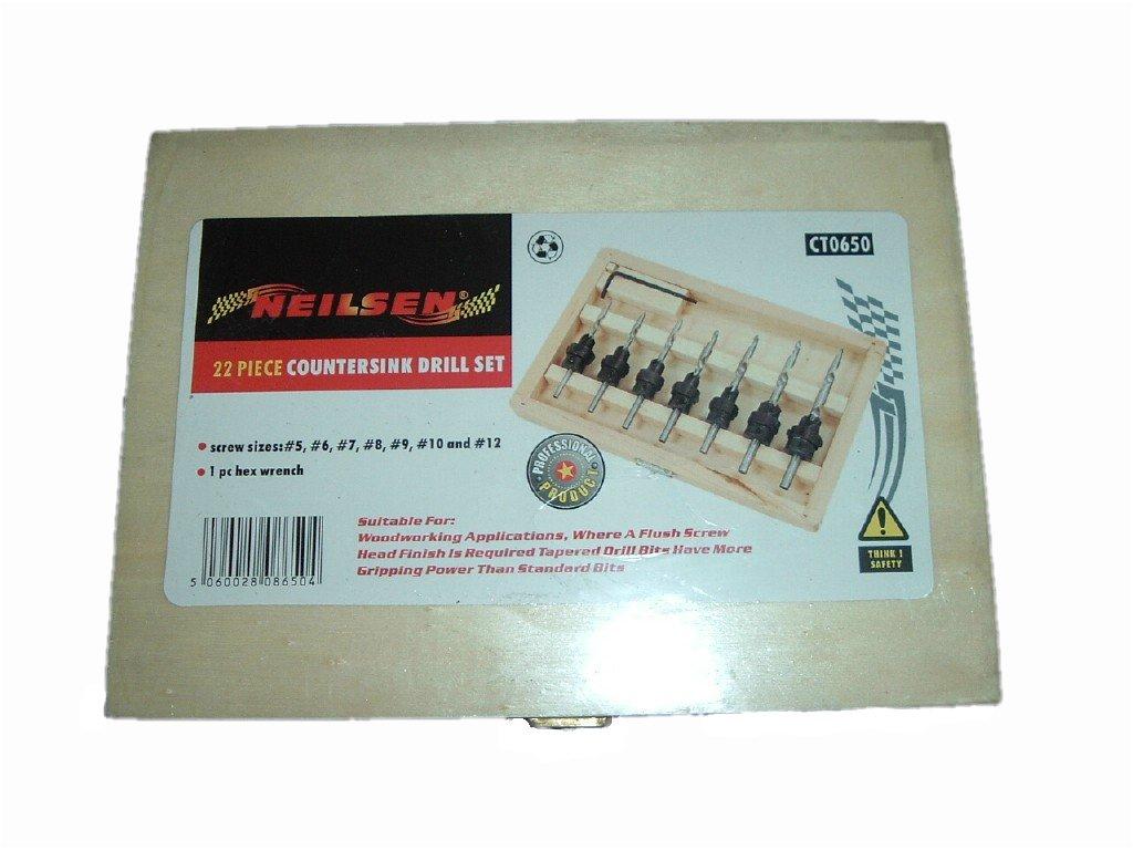 countersink drill bit. countersink drill bit set in wood case(7drill bits, 7countersink collars ,7 grub screws, 1 storage box): amazon.co.uk: business, industry \u0026 science countersink drill bit m