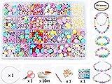 24 Arten Bunte Baby Stringing Perlen Spiel Schnürsystem Perlen Beads Spielzeug DIY Perlenschmuck für Kinder zum Basteln von Schmuck Ketten Armbändern (color 6#)