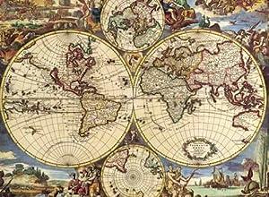 Desconocido Editions Ricordi 0901N16173  - Negro ANONIMO Mapa del Mundo Jigsaw Puzzle Piece 1500